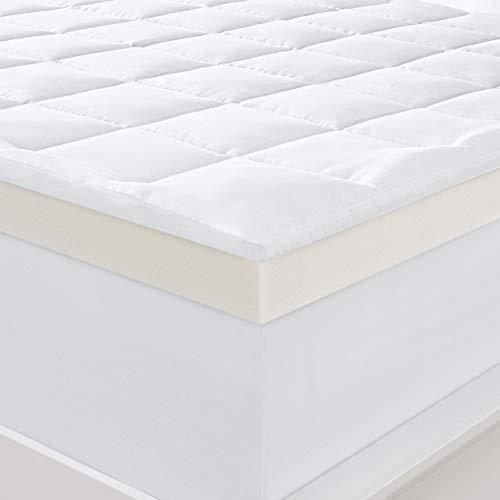 Serta Pillow Top Memory Foam 4 inch Mattress Topper Twin