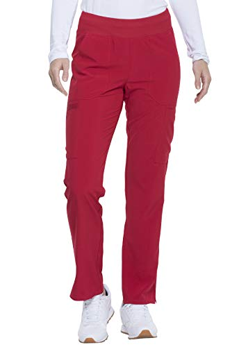 Dickies EDS Essentials Natural Rise Tapered Leg Pull-On Pant, DK005, S, Red