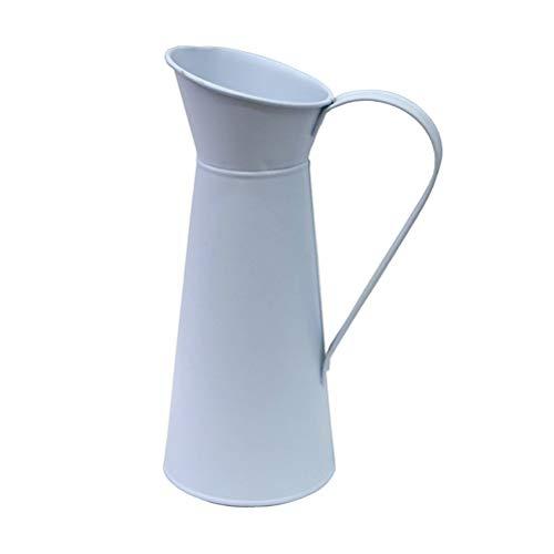Cabilock 1Pc einfache Eisenkrug Gießkanne kreative Mode getrocknete Blumenvase Desktop Blumenarrangement Wasserkocher Mini Kaffeekanne (zufällige Farbe)
