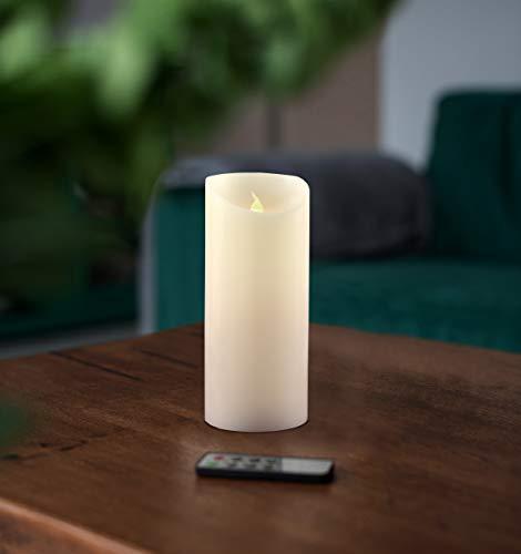 decoking Juego de velas led (con llama Cera mando a distancia temporizador té luz, Wax, 15 cm