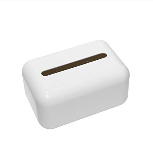 UCYG Nordic Plastic rechthoekige gezichtsdoek houder voor badkamer wastafel aanrechtbladen, slaapkamer dressoirs, nachtkastjes, bureaus en tafels - wit, roze, groen