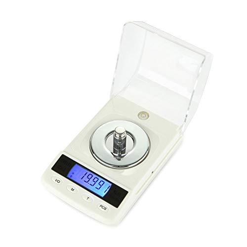 GXXASD Báscula Digitales De Precisión50g X0.01G Balanzas De Portátiles Báscula De Joyería con Pantalla LCD Función De Tara, para Cocinar, Droga, Café