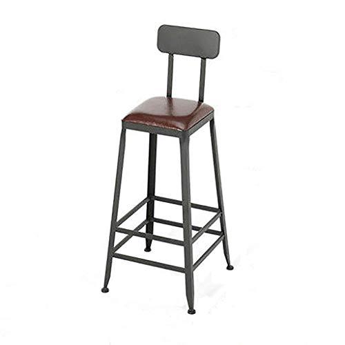 XPfj Sgabelli da cucina, bancone da bar, sedia poggiapiedi con schienale, seduta quadrata in pelle artificiale per colazione, ristorante, pub, bar, sgabello (dimensioni: 65 cm)