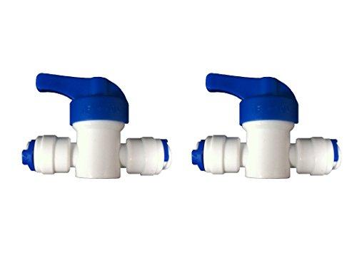 """1 / 4 \""""INLINE WASSERHAHN GESCHLOSSEN, OFF VENTIL, ISOLIERUNG, FÜR 1 / 4 ZOLL (LLDPE KÜHLSCHRANK / GEFRIERSCHRANK NATURE\'S WATER UMKEHROSMOSE-WASSERFILTERSYSTEM für SCHLAUCH WASSERPFEIFE (2 STÜCK)"""