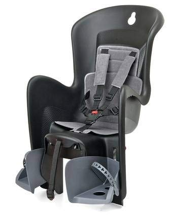 Polisport Unisex-Adult Kindersitz Bilby Maxi CFS, schwarz, one Size