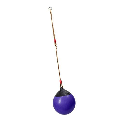 chiwanji Asiento de Columpio de Interior Al Aire Libre con Cuerda de Nailon para Niños - Púrpura