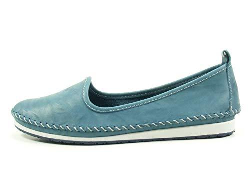 Andrea Conti Damen Slipper 0027449 Ballerina Mokassins, Größe:40 EU, Farbe:Blau