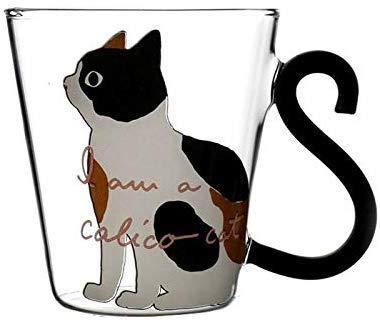 del Fumetto del Gattino di caffè Tazza da tè Tazza di Corsa Espresso Tazza Tazza Tazza di Vetro del Gatto del Gattino di Vetro della Tazza della Tazza di tè della Tazza del Latte della Tazza di caffè