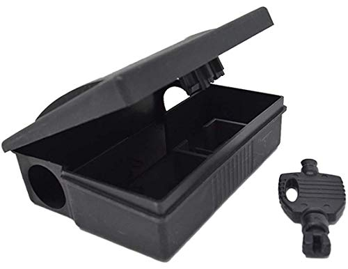 Mouse Bait Stations by Eco Pro - Small Rodent Trap Alternative - Keep Your Pets and Children Safe - Mice and Voles Poison (not Included) is Safely Placed Inside The Box Under Lock and Key - 4 Pack