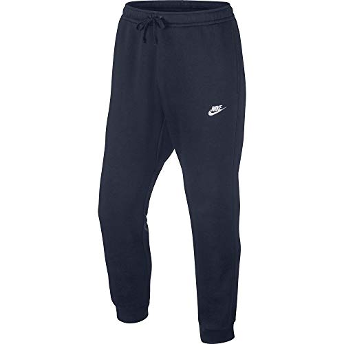 Nike Herren Jogger Fleece Club Trainingshose, Blau (Obsidian Heather/White), Small