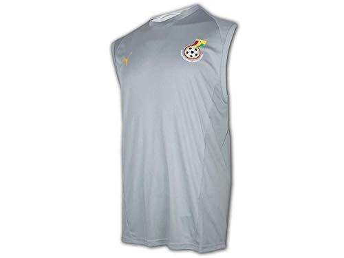 PUMA Ghana Training Tank Top grau Black Stars Fußball Shirt Trikot Afrika Cup, Größe:L