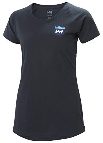 Helly Hansen W Nord Graphic Drop T-Shirt Femme, Bleu (Navy), M