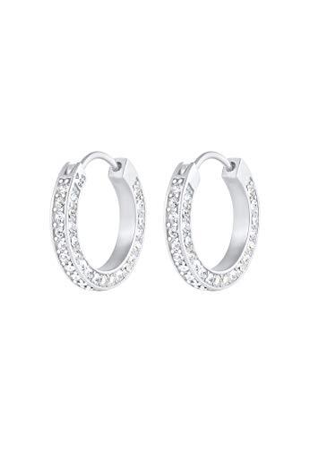 Elli PREMIUM Pendientes Creolen Swarovski Kristall 925 Silber