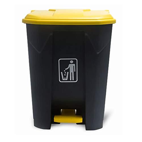 LTAO groot in de afvalemmer-Mall-commercieel afval, de vuilnisbak buitenshuis 30 l 45 l 68 l 87 l met deksel plastic pedaal art bereid