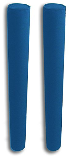 """Mad Dog 48"""" Pair of Boat Trailer Guide Pole Pad and Cover with Capped Ends - Heavy Duty UV Fade Proof Canvas Products -Sold in Pairs - Royal Blue"""