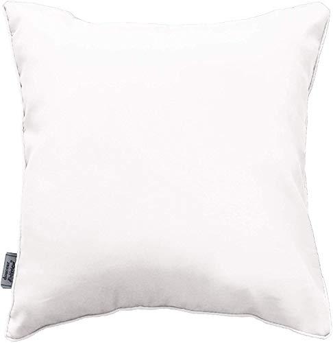 douceur d'intérieur 1600587 Coussin en Polyester-Fibre Blanc 40 x 40 cm