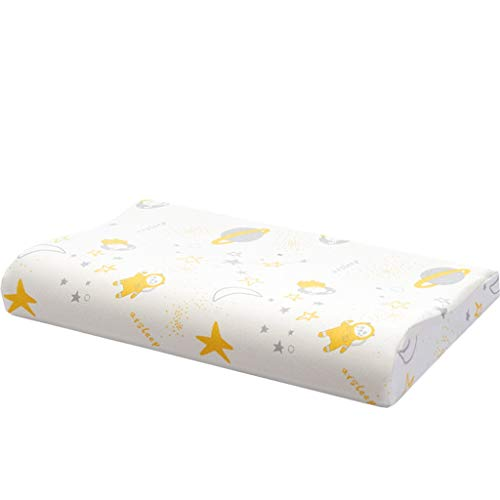 Guoqunshop Ergonomic Memory Foam Pillow Children's Memory Foam Pillow Baby Pillow with Cooling Gel ,Toddler Kids Newborn Baby Head Shaping Pillow Memory Foam Pillow (Size : M)