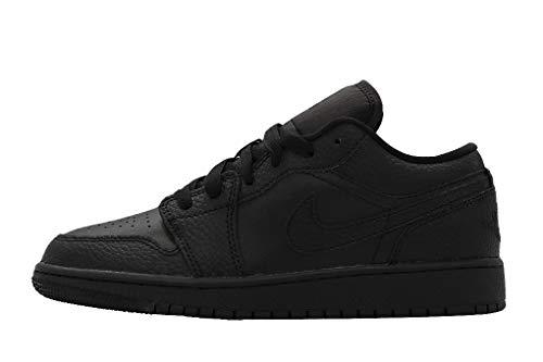 Nike Air Jordan 1 Low (GS), Zapatillas de básquetbol, Negro, 38.5 EU