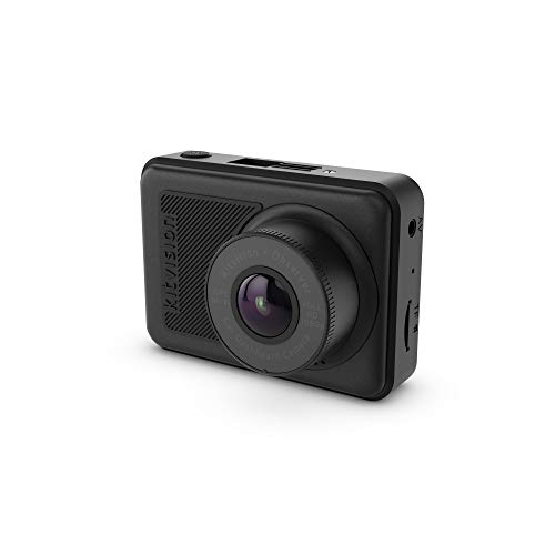 Kitvision Observer Dashcam 1080p Wi-Fi and GPS - Full HD Dashboard Car Camera/Dash Cam with 2.45 Inch Screen, 170° Ultra-Wide Angle, G Sensor Collision Detection, Motion Detect, Parking Mode - Black