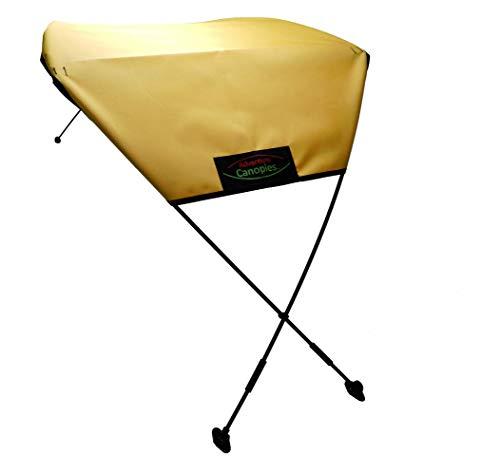 Adventure Canopies Kayak Sun Shade - 10 Foot & Larger Kayaks (Yellow Blast, Barracuda: Sit-On/Sit-in w/seat Below top of Kayak)