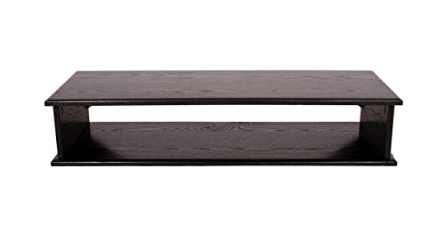 """Black XX-Large Double TOP TV Riser 44X16X8 3/4OUTSIDE 41x15x7 1/4"""" high Inside Dimensions"""