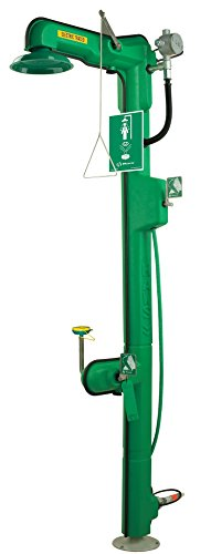 Haws 8317CTFP 120 VAC Cable Heated Freeze-Resistant Combination Shower and Feather-Flo Eye/Face Wash with Top/Bottom Supply