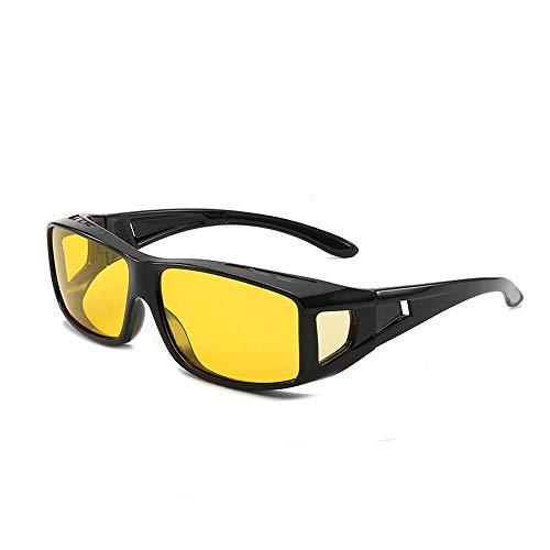 T-ara Gafas de sol polarizadas vibrato con la misma visión nocturna película de color amarillo gafas anti-viento de arena montar espejo de la protección laboral ocular, anti-azul claro protecc