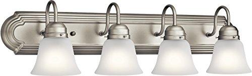Kichler 5338NIS Vanity, 4-Light 400 Total Watts, Brushed Nickel