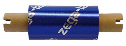 zega-labels Thermotransfer Farbband 65 mm x 74 m - zega quantum (Harz Kratzfest) - für Zebra GK/GX/GC/TLP - 1/2 Zoll Kern Ø 12,7 mm - für Kunststoffetiketten (PE-Folie, PP-Folie, PET Polyesterfolie)