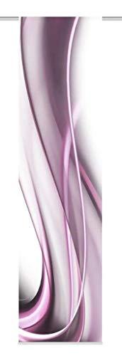 Home Fashion SCHIEBEVORHANG DEKOSTOFF Digitaldruck ONDA, Stoff, Beere, 245 x 60 cm