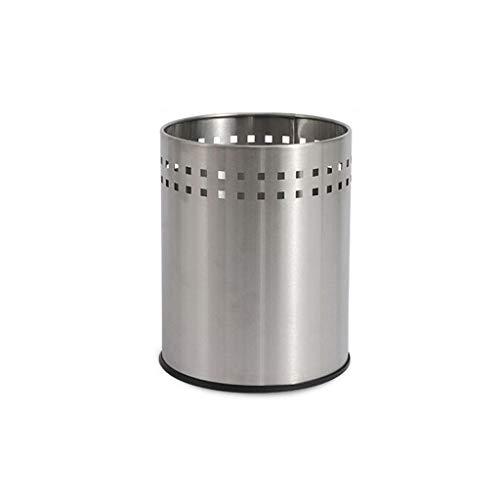 SMEJS Papelera para baño, cocina, oficina, acero inoxidable pulido