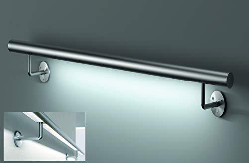 Edelstahl LED-Handlauf Wandmontage Set Länge ab 1,05m Geländer beleuchtet (Länge: 1050 mm)