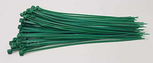 PC24 Shop & Service - Fascette da 100 mm, colore verde, 100 pezzi
