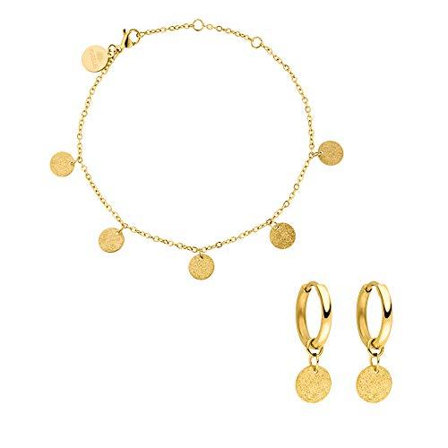 PURELEI® 'Ka Hoolio' Armband & Ohrring Set (Gold)