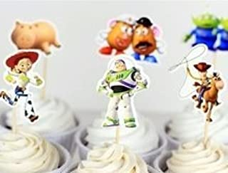 DIsney Toy Story Cupcake Toppers Birthday Party Supplies Favors Pack of 24