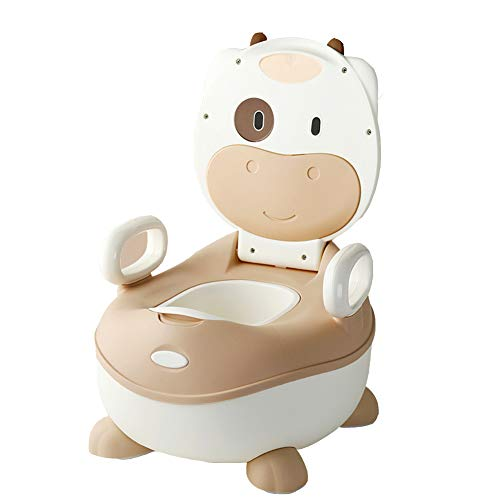 Grande capacité Bébé toilette enfant,Cartoon Vache Siège pot pour bébé Type de tiroir Easy clean Siège de toilette pour bébé Peut être la voiture de jouets usagés Pot wc pour bébés-S