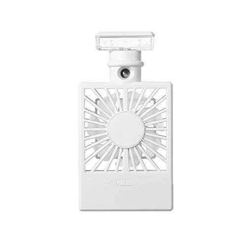 Humidificador de agua en spray – Ventilador humidificador enfriador, carga USB, mini ventilador de aire acondicionado PingGongHuaKeJiYouXianGongSi (color: blanco)