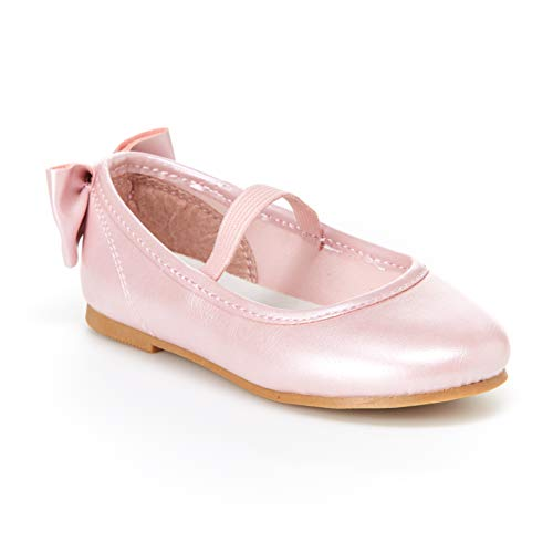 Simple Joys by Carter's Baby Girls' Ana Ballet Flat, Pink, 7 M US Toddler