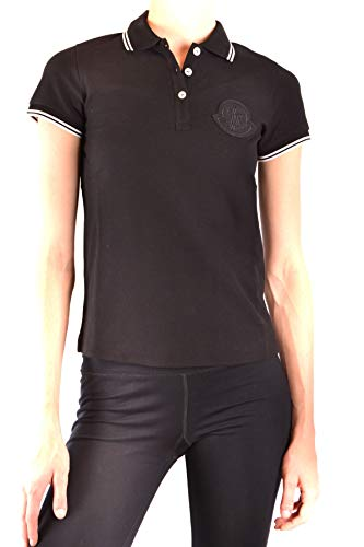 Moncler Luxury Fashion Damen MCBI38654 Schwarz Baumwolle Poloshirt | Jahreszeit Outlet