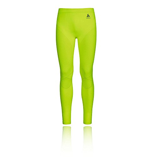 Odlo(‿‿‿‿) Pantalon pour Homme Evolution Warm L Safety Yellow - Platinum Grey