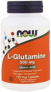 NOW Supplements, L-Glutamine 500 mg, Nitrogen Transporter*, Amino Acid, 120 Veg Capsules