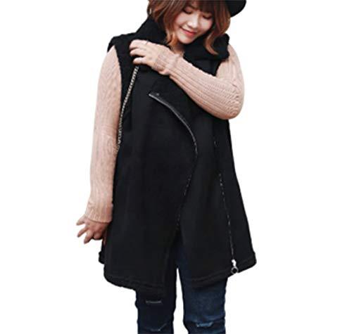 GL SUIT Womens Faux Bont Gilet Microfleece Body Warmer Vest Suede Lam Cashmere Jas Comfortabele Mouwloze Winterjas Cardigan Bovenkleding