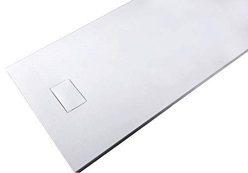 Duschtasse Duschwanne rechteckig GT-Serie aus SMC - Breite 90 cm - Länge und Zubehör wählbar, Ablaufgarnitur:Ohne Ablaufgarnitur, Maße Duschwanne:90x90cm