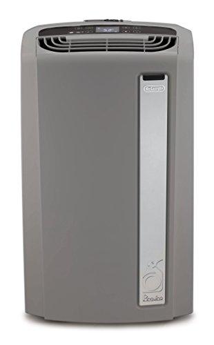DeLonghi PACAN135EWS 3-in-1 Portable Air Conditioner, Dehumidifier & Fan + Arctic Cool Quiet Mode, Remote Control & Wheels, 550 sq. ft, Large Room, Light Gray