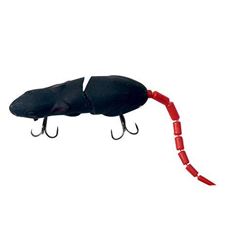 pengyu Kunstköder, künstliche Ratten, lebensechte Maus, Angelköder, Köder, Zubehör Einheitsgröße Schwarz