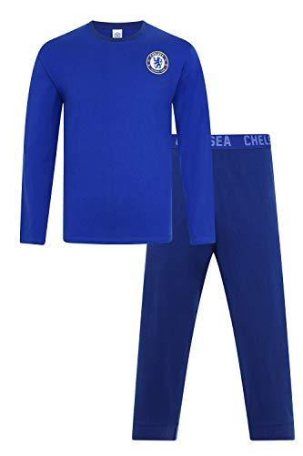Mens Official Chelsea Football Club Blue Long CFC Pyjamas (X-Large)