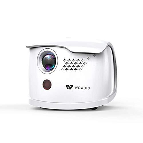 Mini Beamer Videoprojektor Intelligenter 3D DLP-Projektor Unterstützung 4K 1080P Mit 2 GB RAM / 16 GB ROM HDMI Wifi Bluetooth Mit Tragbarem,Weiß