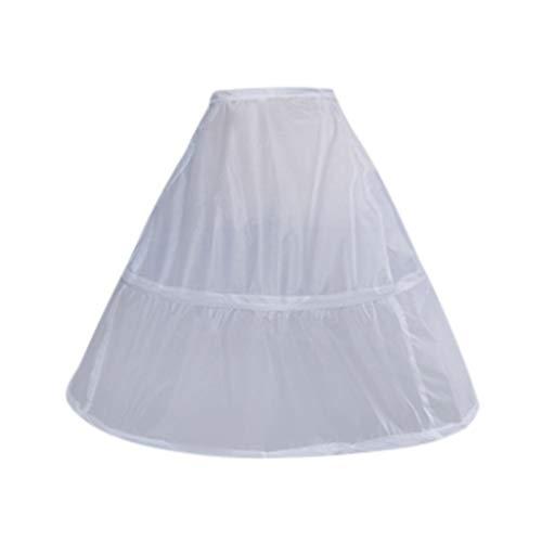 Reifrock 2 Ring Underskirt Unterrock Petticoat Krinoline Weiß Eine Größe für Hochzeitskleider Ballkleider Abendkleider Brautkleider Brautkleid Promkleider Hochzeitskleider Lang Rock Piebo Kleid