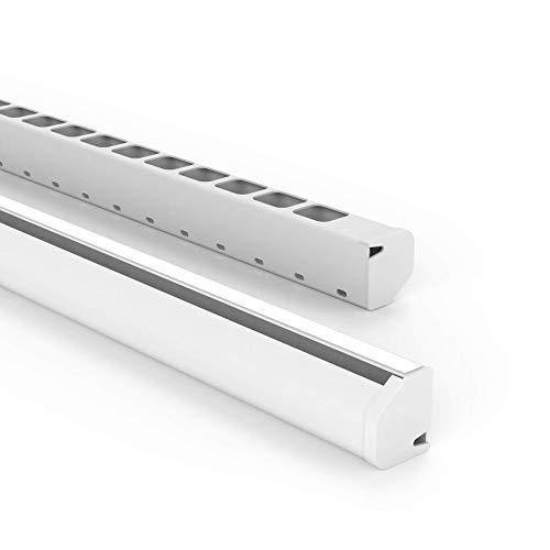 Habengut Untertisch-Kabelführung aus PVC Weiß, für das Kabelmanagement am Schreibtisch - Länge 1,16 m