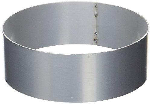 Pati-Versand 12364 Cercle à Gâteau, Métal, Argent, 18 x 18 x 6 cm